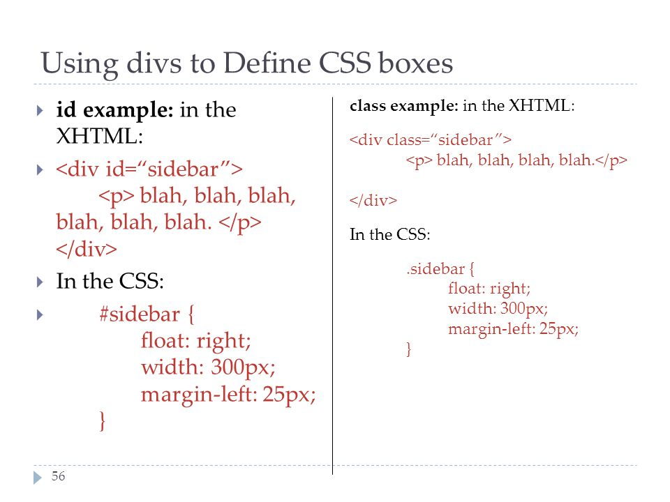 Using divs to Define CSS boxes
