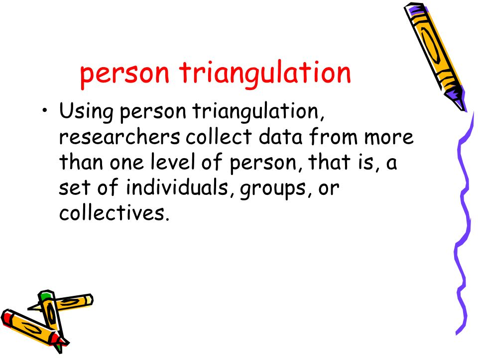 person triangulation