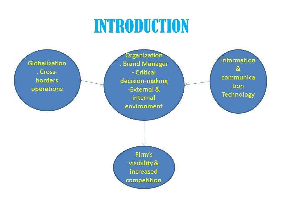 INTRODUCTION Organization Information & communication Technology