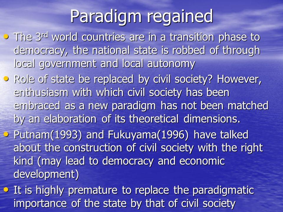 Paradigm regained