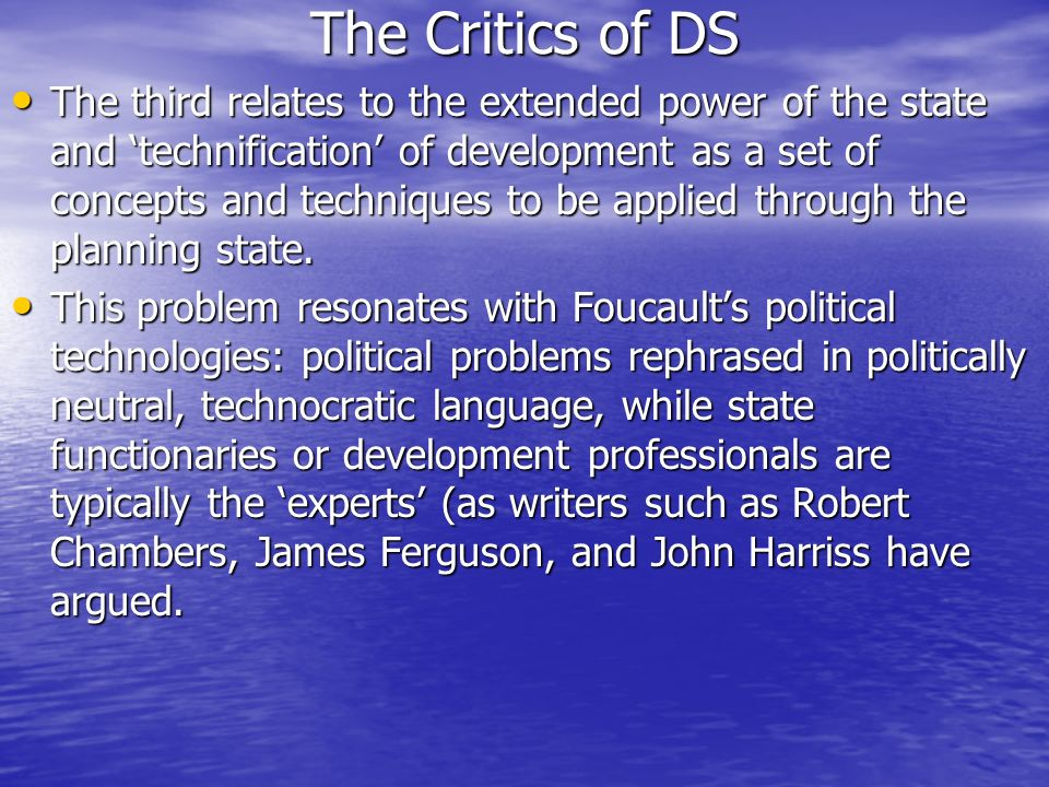 The Critics of DS