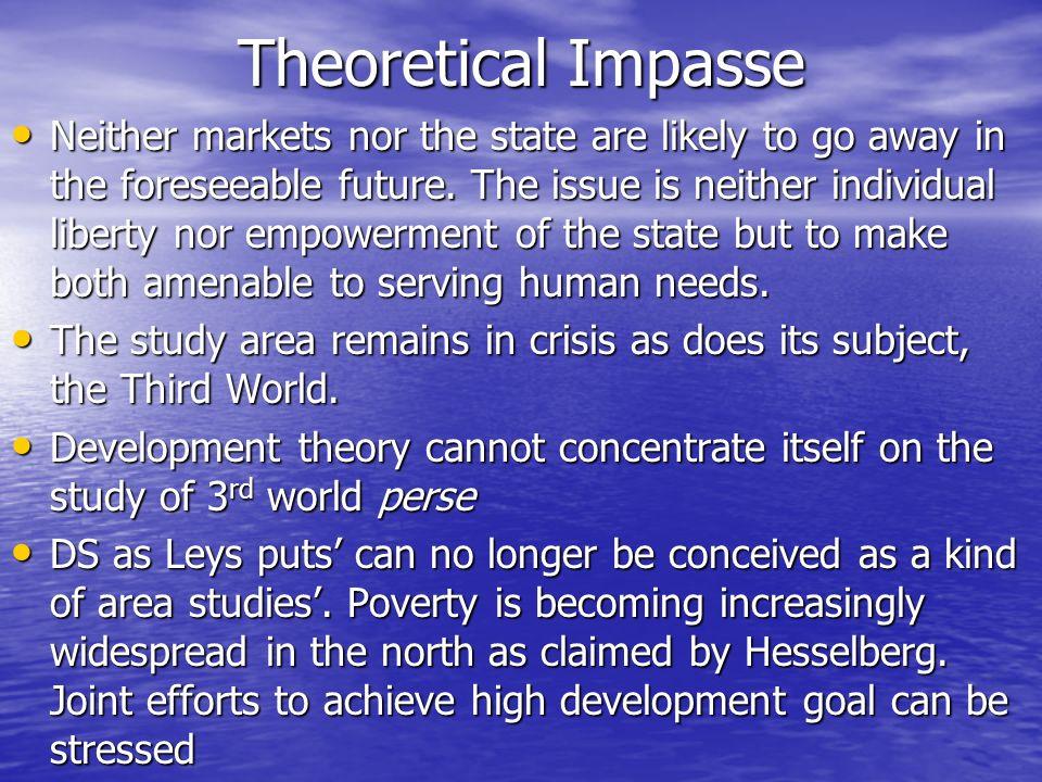 Theoretical Impasse