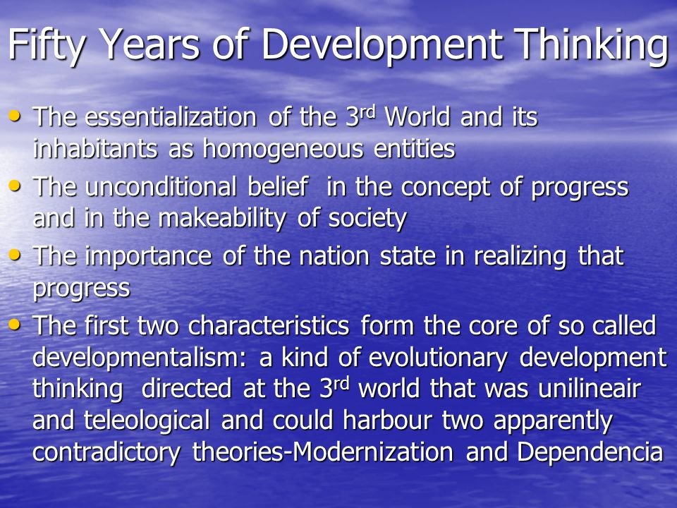 Fifty Years of Development Thinking