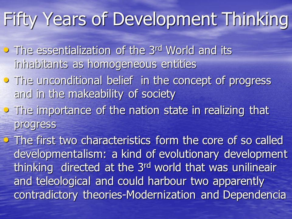 Fifty Years of Development Thinking