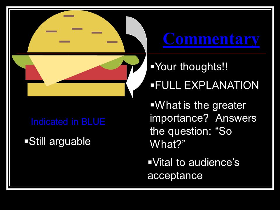 Commentary Your thoughts!! FULL EXPLANATION