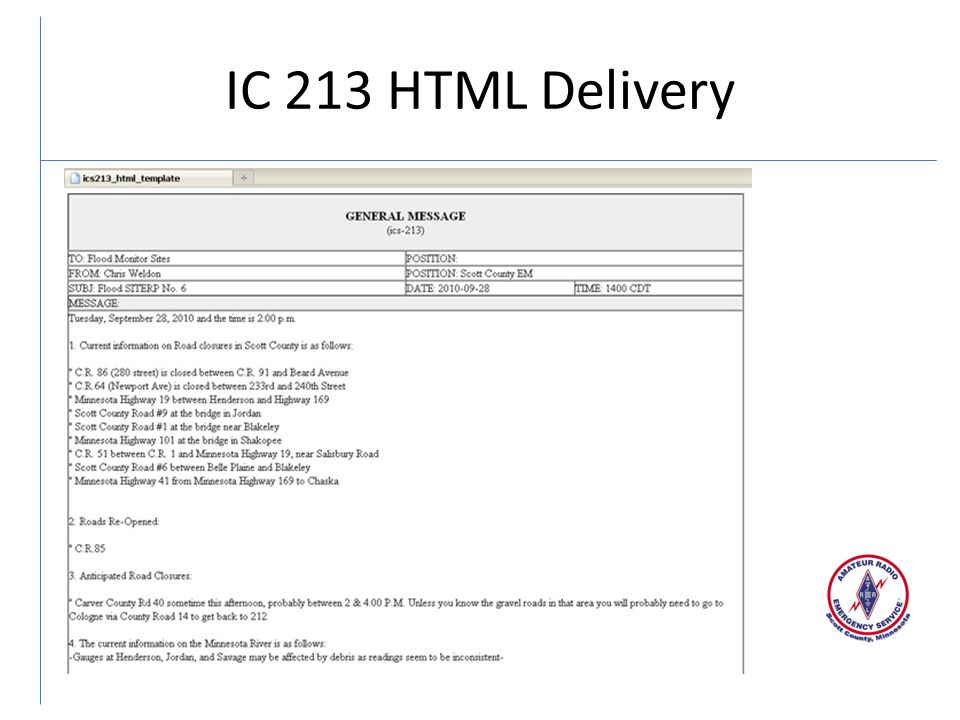 IC 213 HTML Delivery