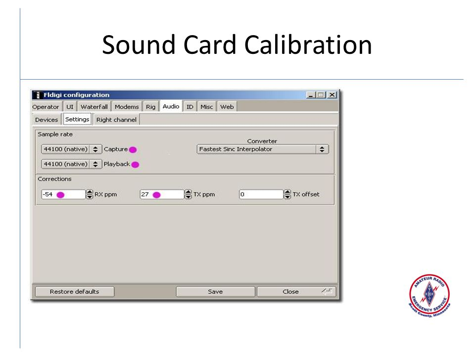 Sound Card Calibration