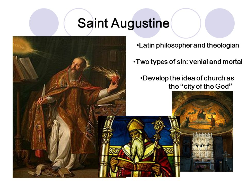 Saint Augustine Latin philosopher and theologian
