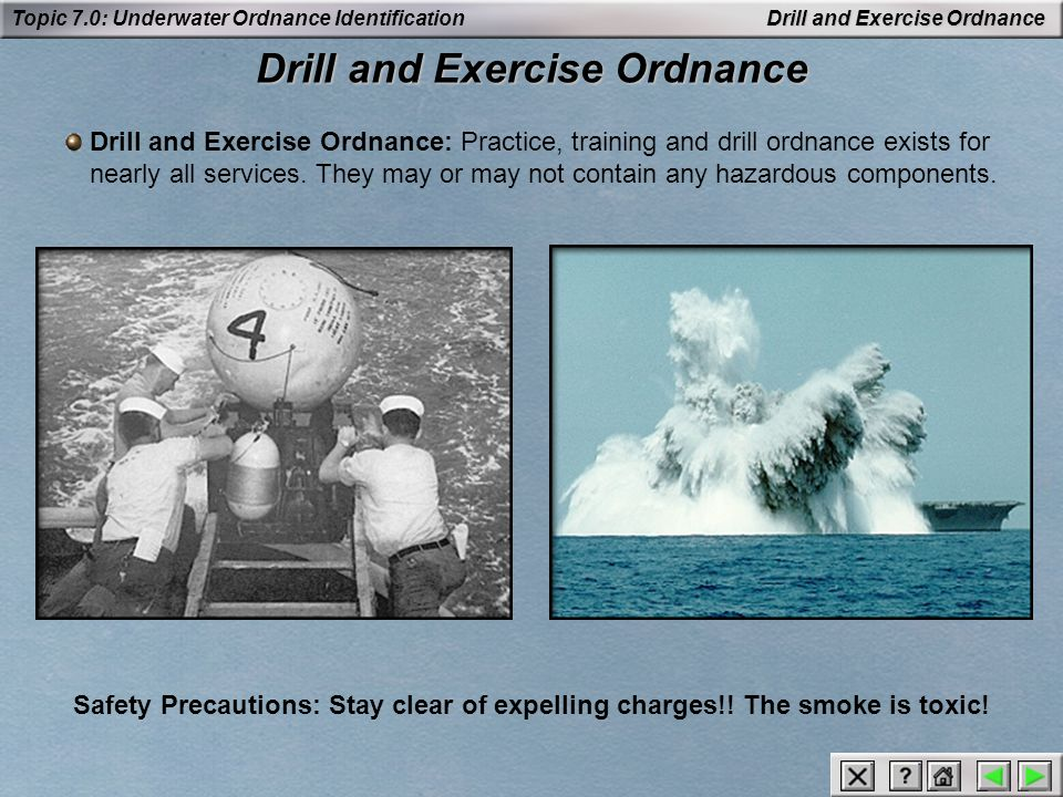 Drill and Exercise Ordnance
