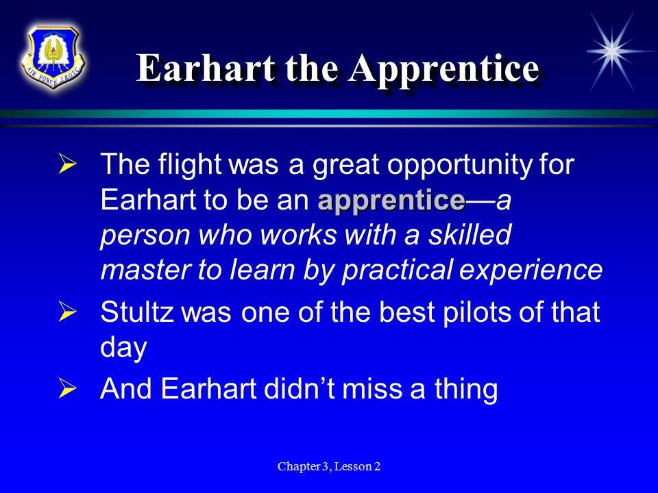 Earhart the Apprentice