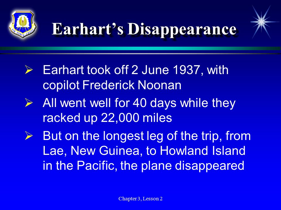 Earhart's Disappearance