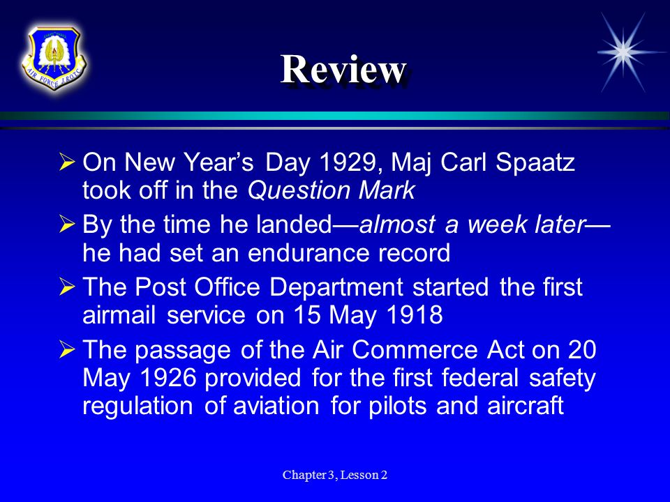 Review On New Year's Day 1929, Maj Carl Spaatz took off in the Question Mark.