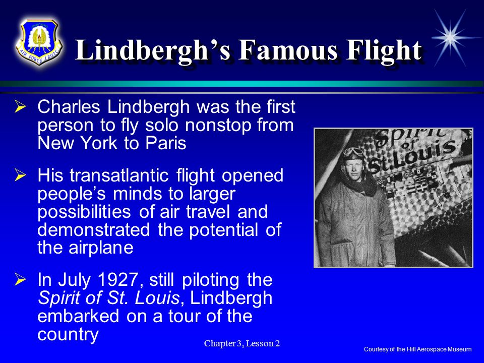 Lindbergh's Famous Flight