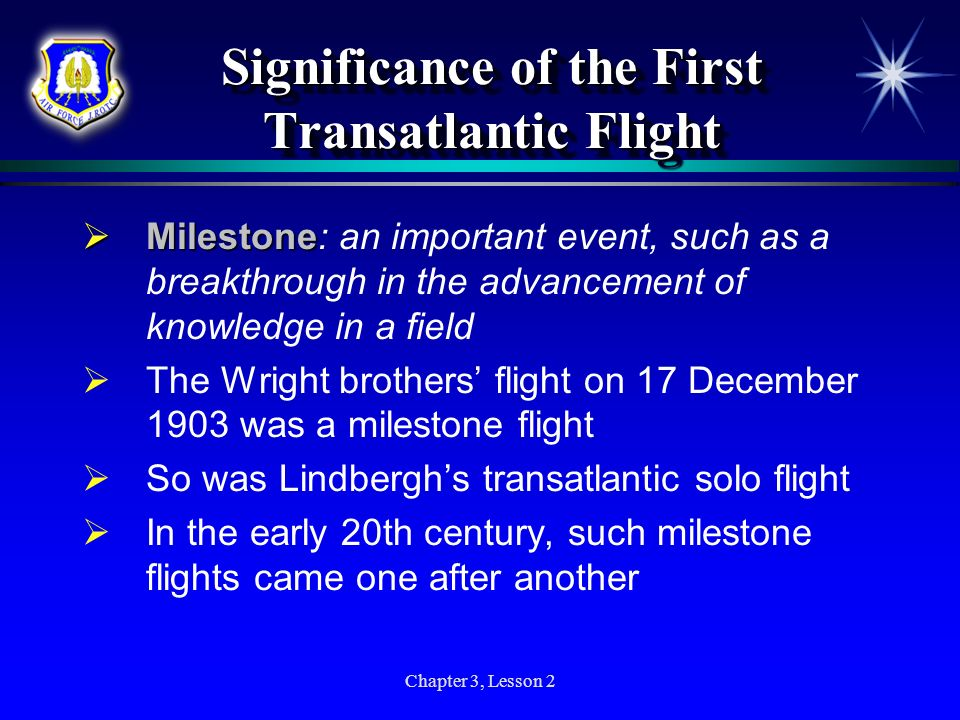 Significance of the First Transatlantic Flight