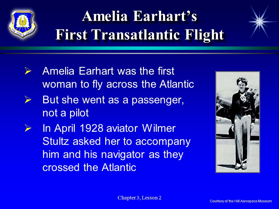 Amelia Earhart's First Transatlantic Flight