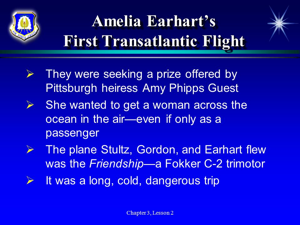 Amelia Earhart's First Transatlantic Flight