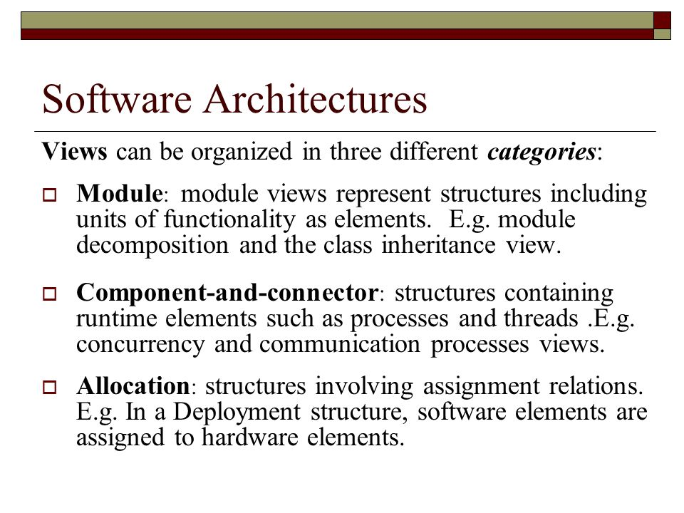 Software Architectures