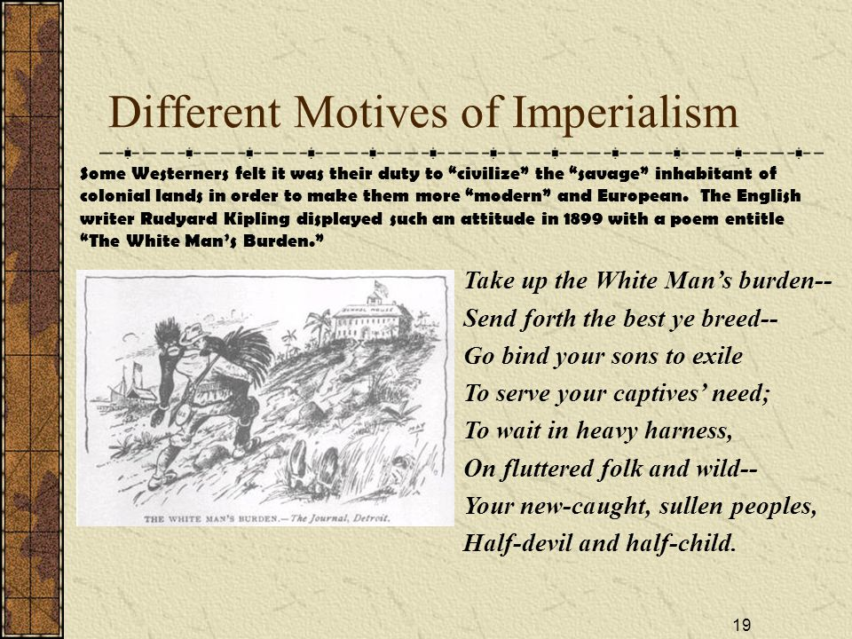 Different Motives of Imperialism