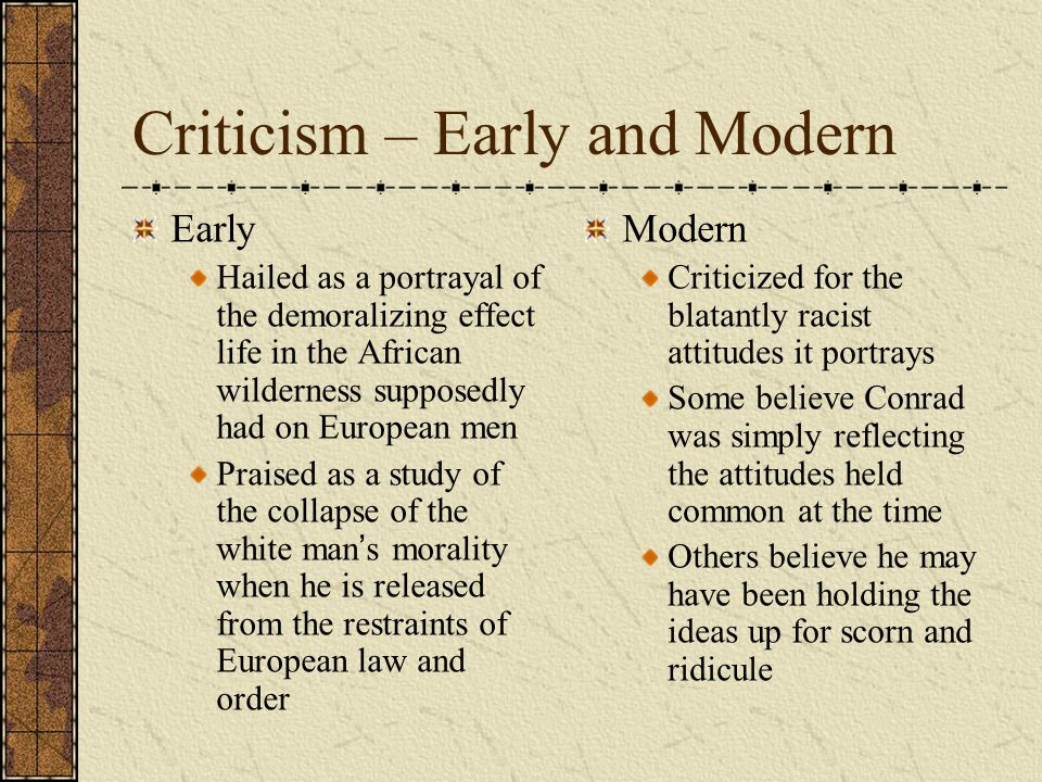 Criticism – Early and Modern