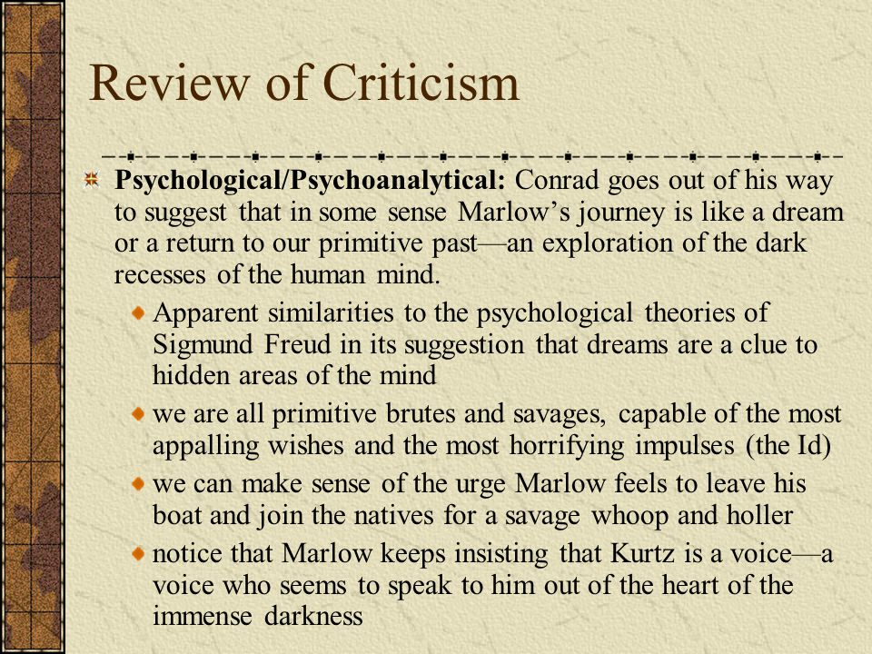 Review of Criticism