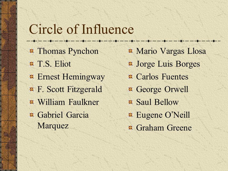Circle of Influence Thomas Pynchon T.S. Eliot Ernest Hemingway