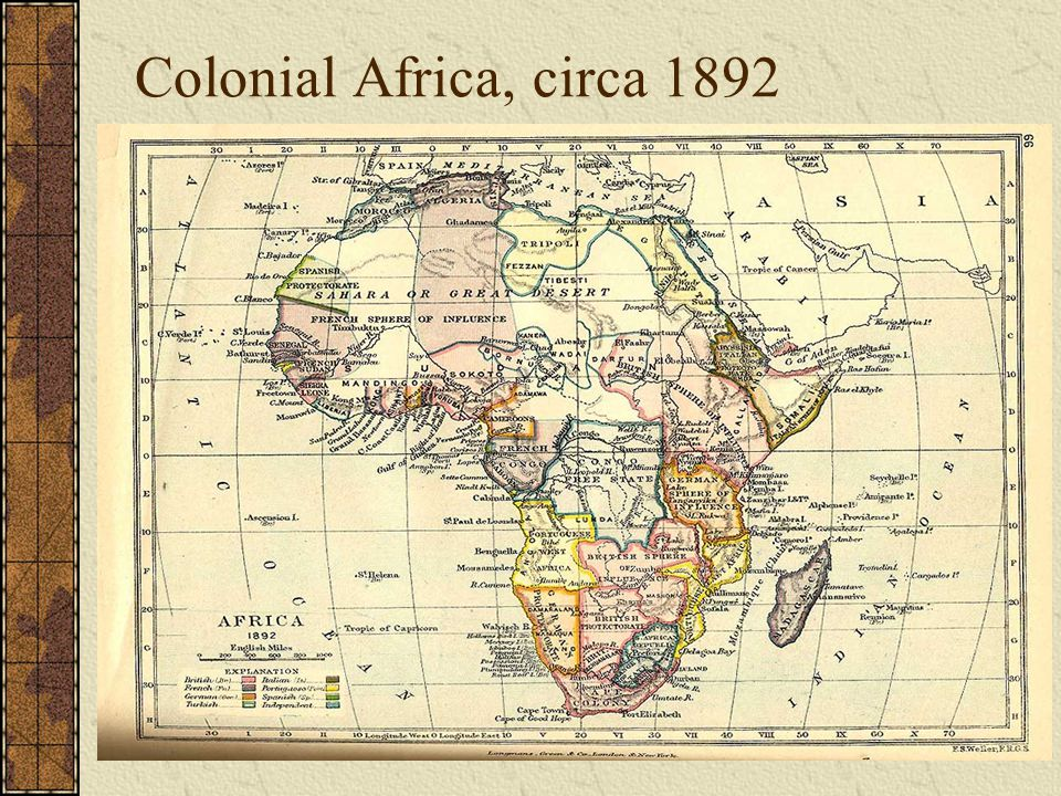 Colonial Africa, circa 1892