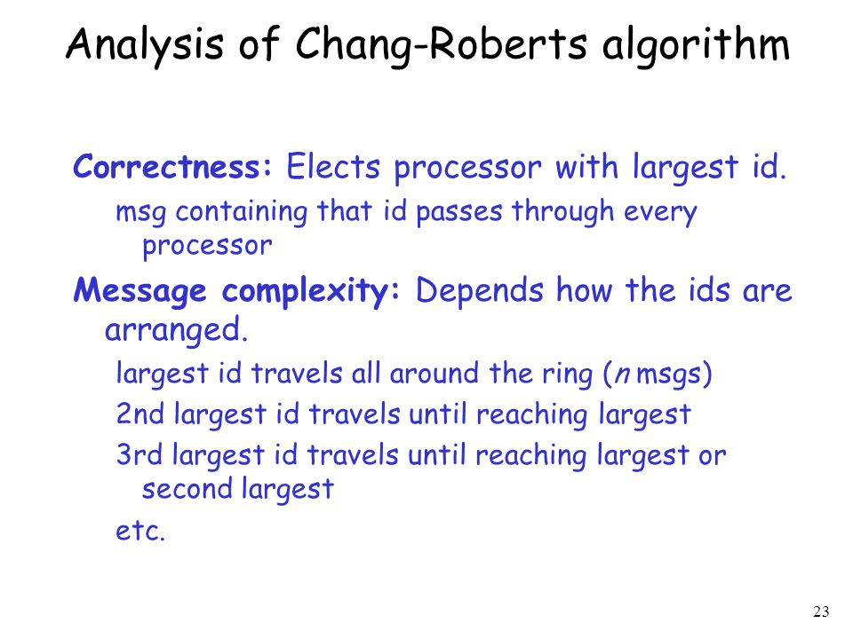 Analysis of Chang-Roberts algorithm