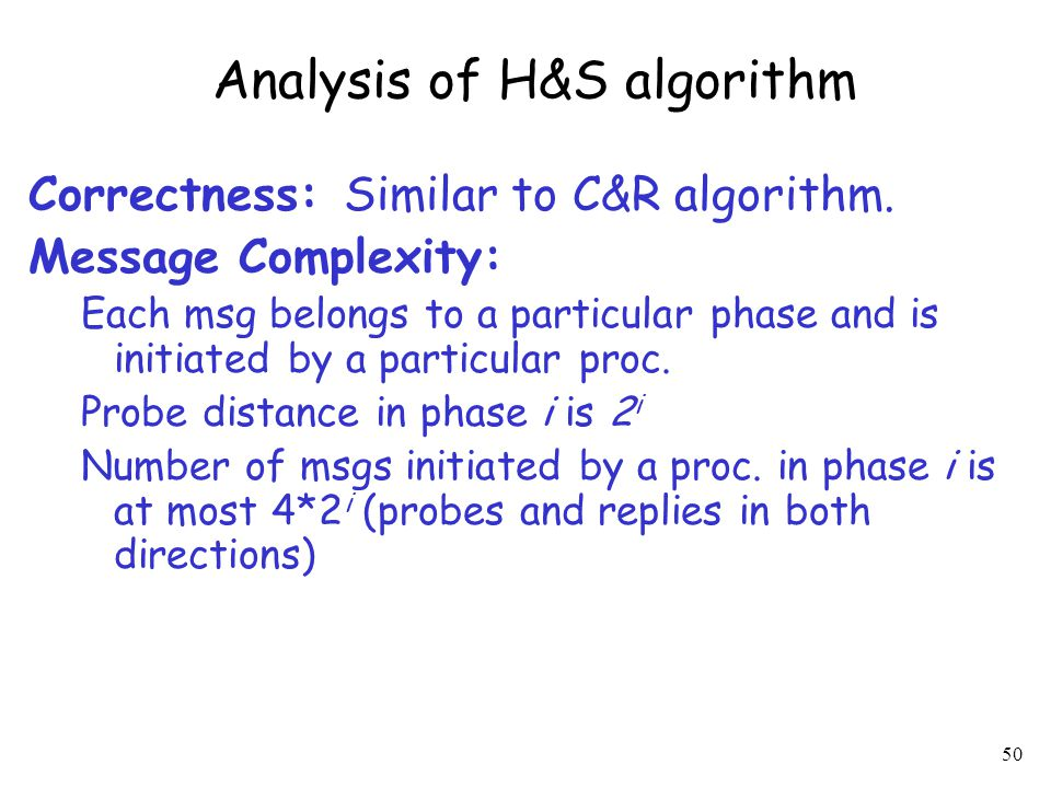 Analysis of H&S algorithm