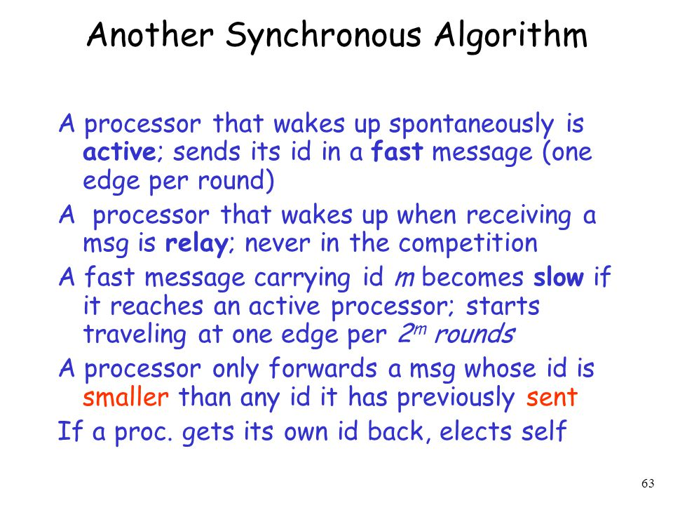 Another Synchronous Algorithm