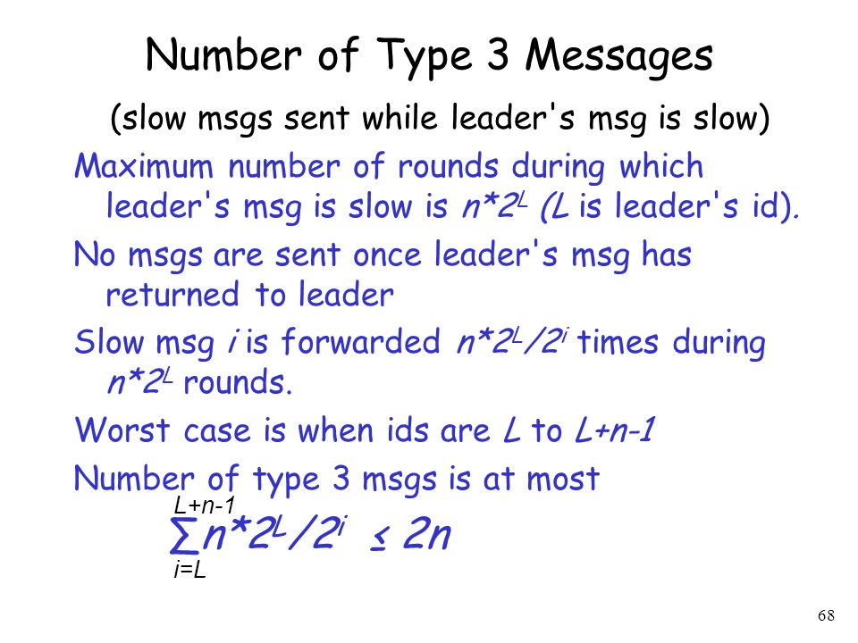 Number of Type 3 Messages