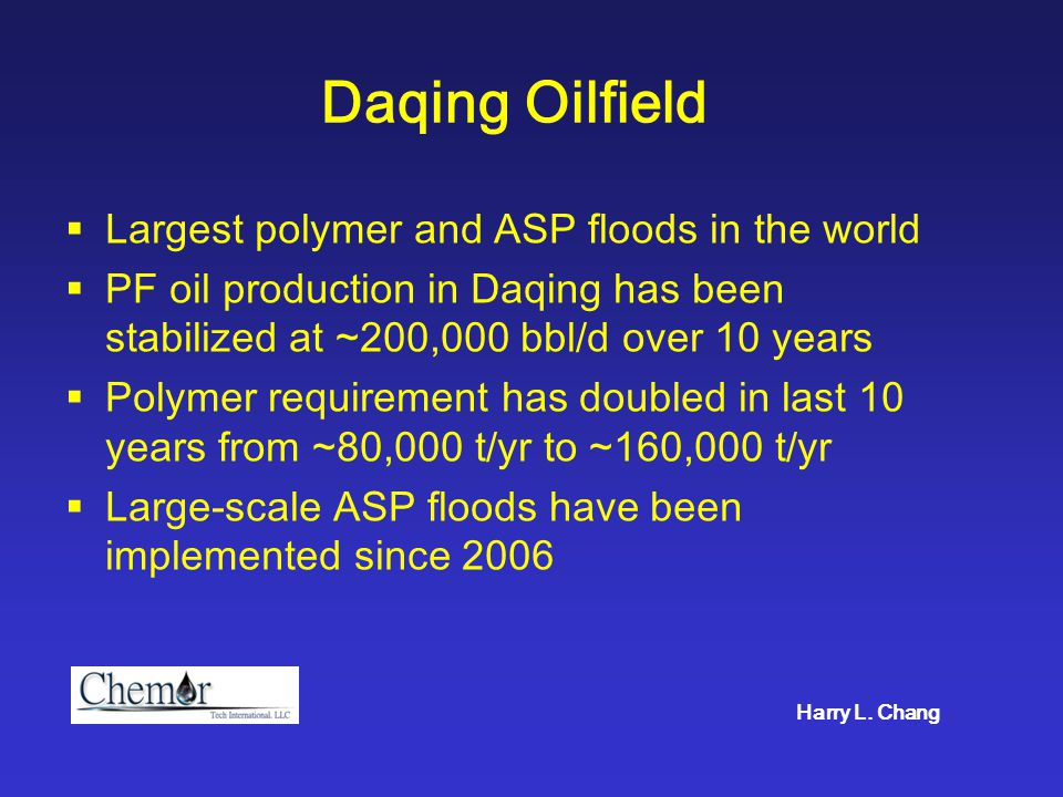 Shengli Oilfield Second largest PF in China