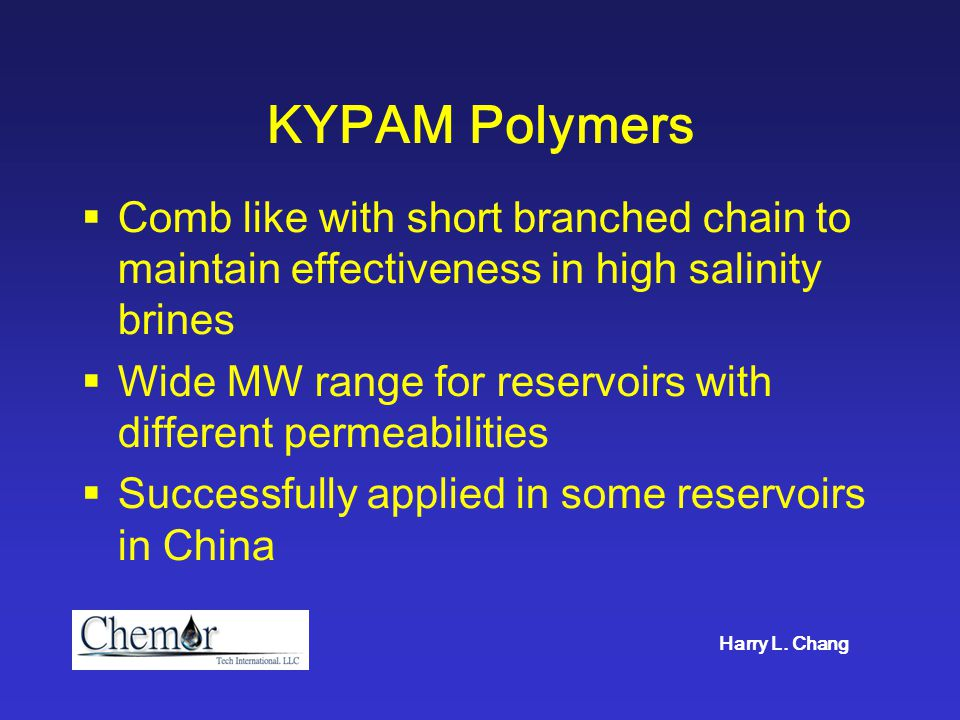 Viscosity Data of KYPAM Polymer