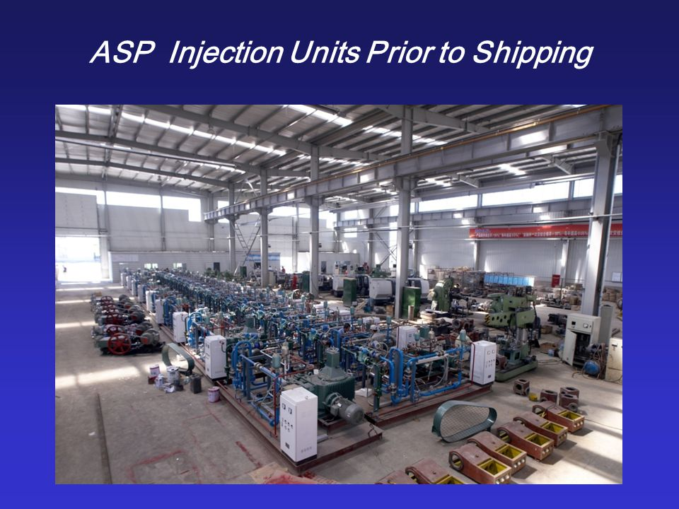 An ASP Injection Station with 70 Wells