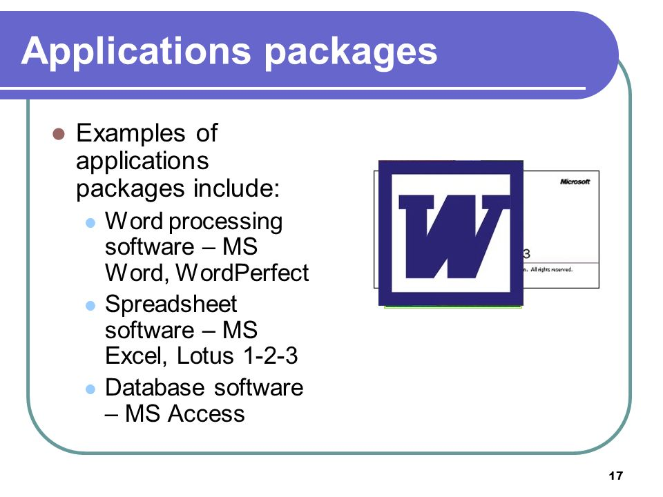 Applications packages