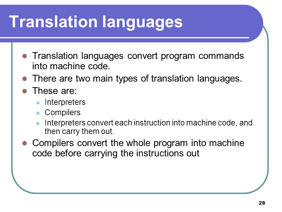 Translation languages