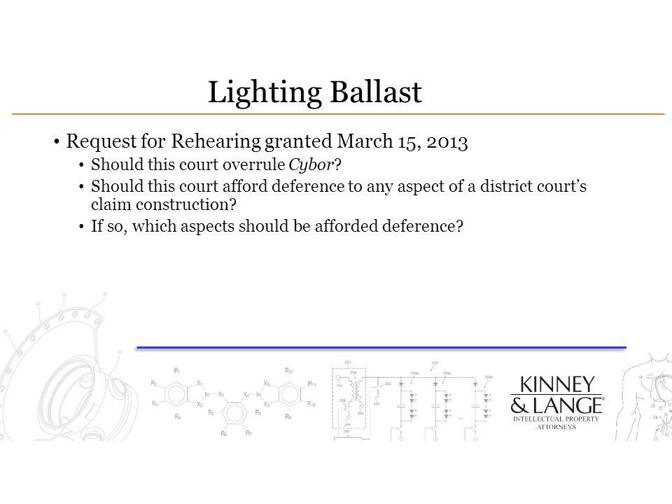 Lighting Ballast Request for Rehearing granted March 15, 2013
