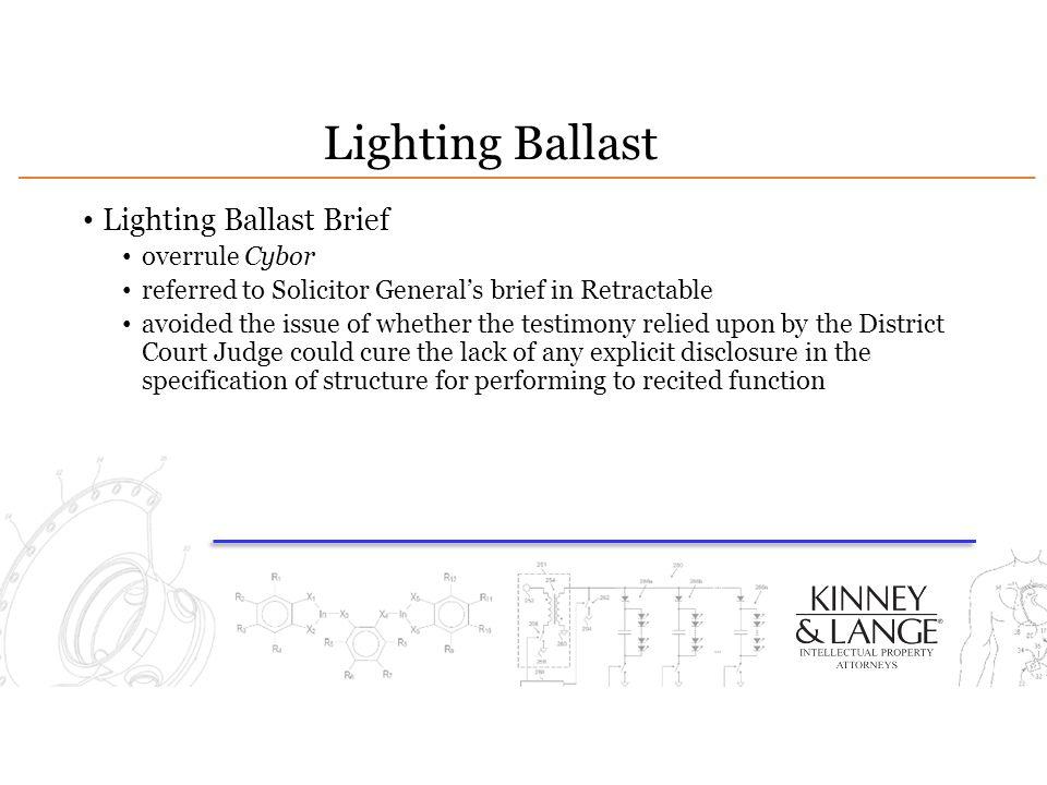 Lighting Ballast Lighting Ballast Brief overrule Cybor