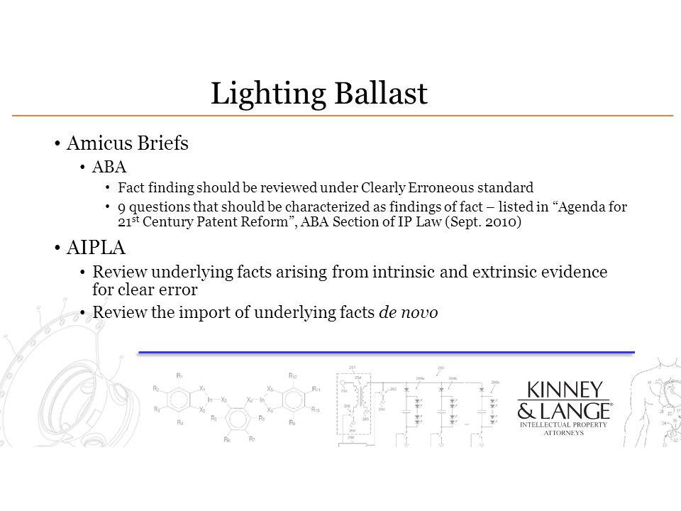 Lighting Ballast Amicus Briefs AIPLA ABA