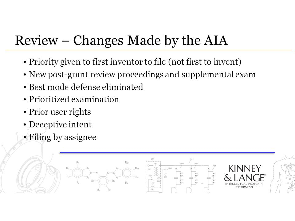 Review – Changes Made by the AIA