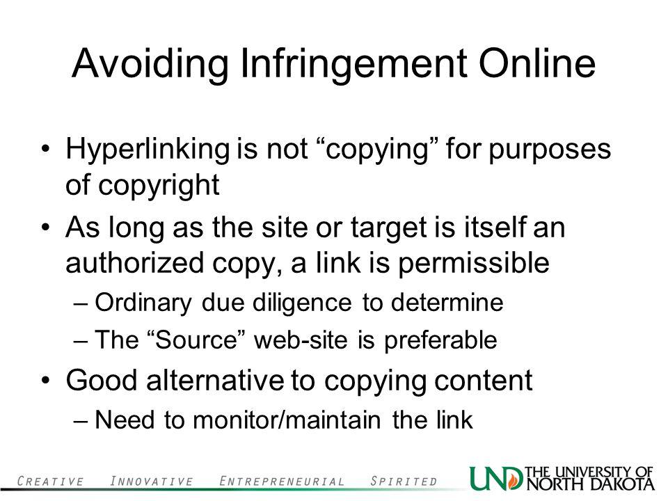 Avoiding Infringement Online