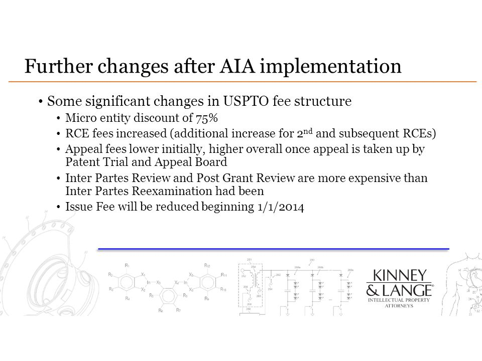 Further changes after AIA implementation