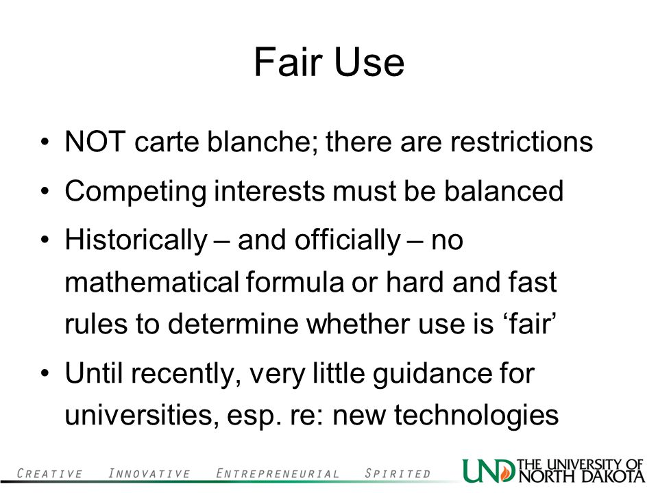Fair Use NOT carte blanche; there are restrictions