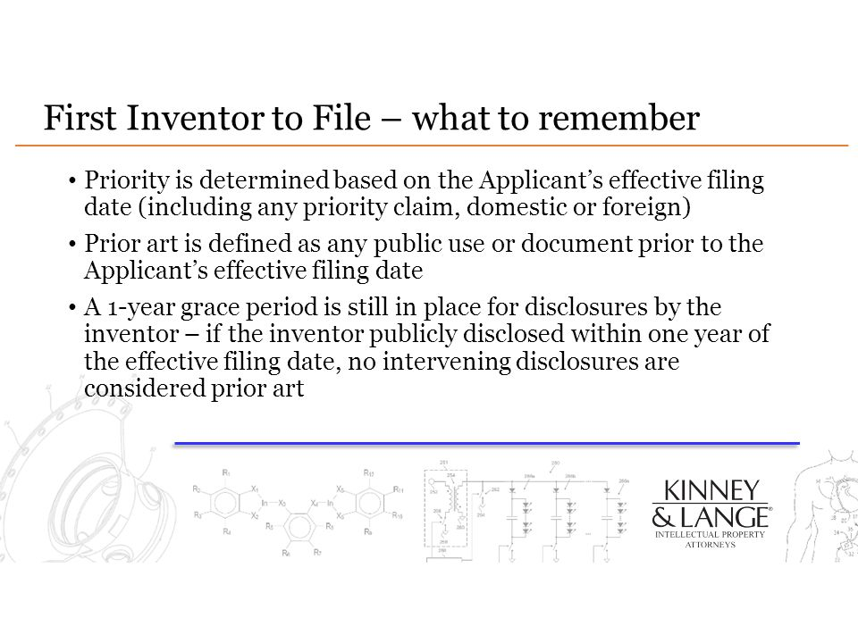 First Inventor to File – what to remember