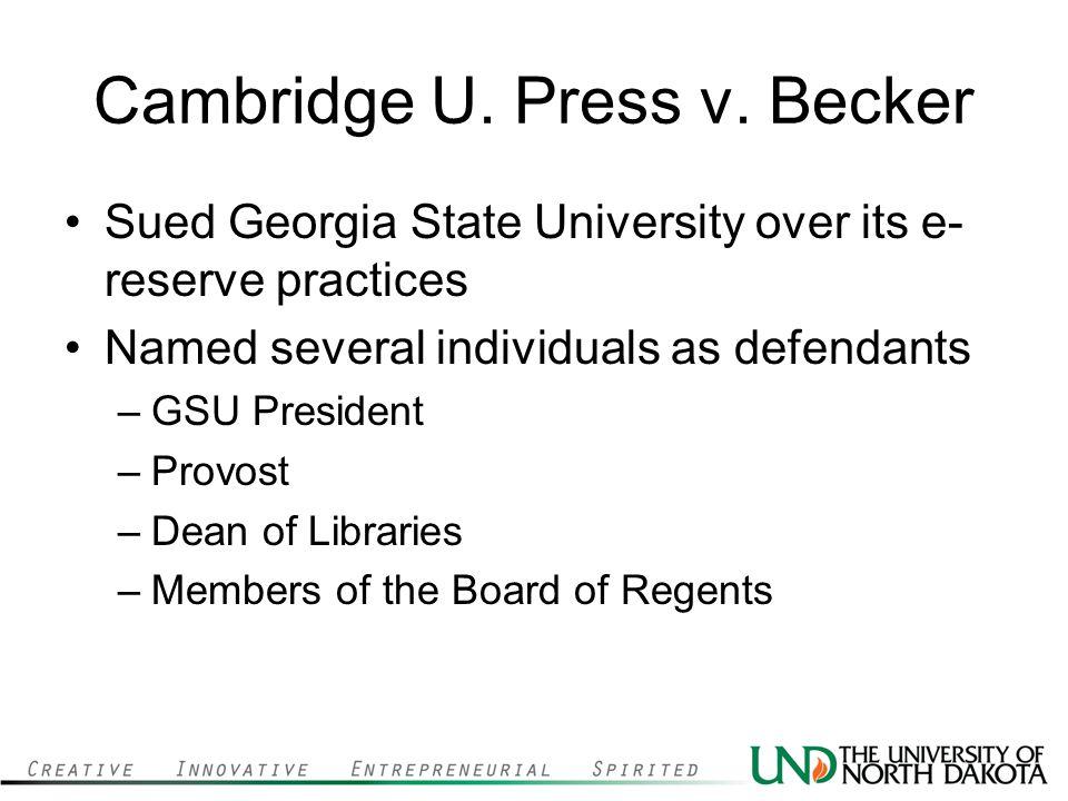 Cambridge U. Press v. Becker