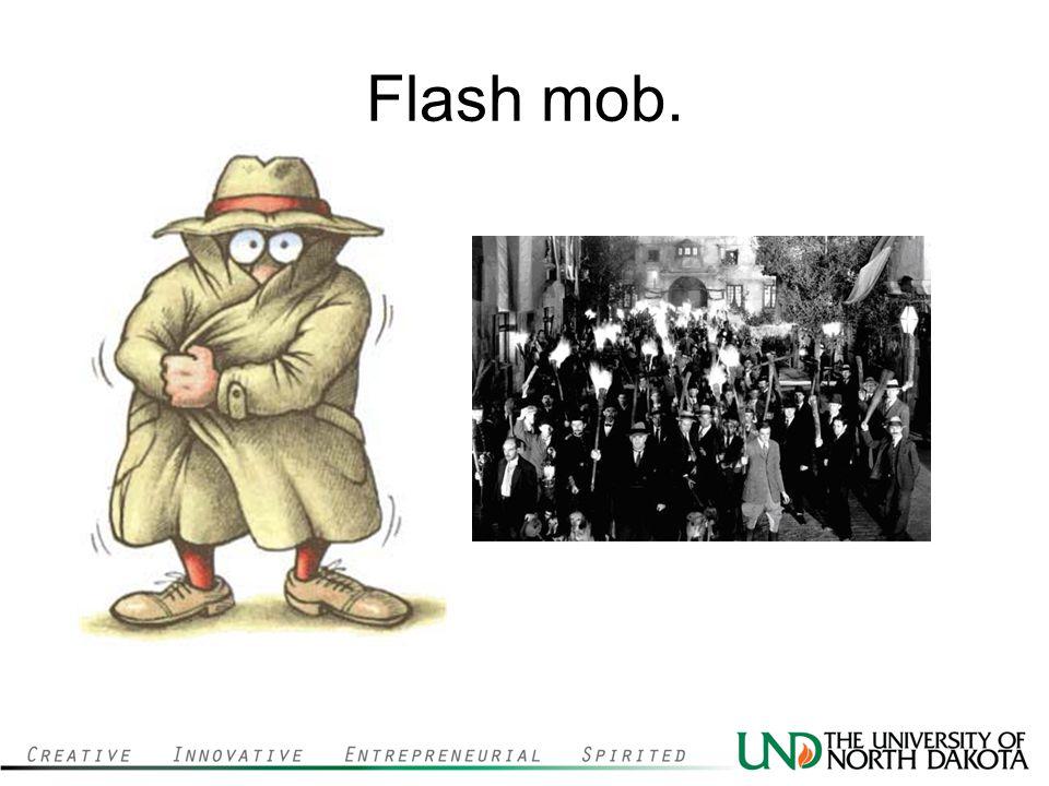 Flash mob.