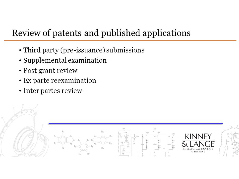 Review of patents and published applications