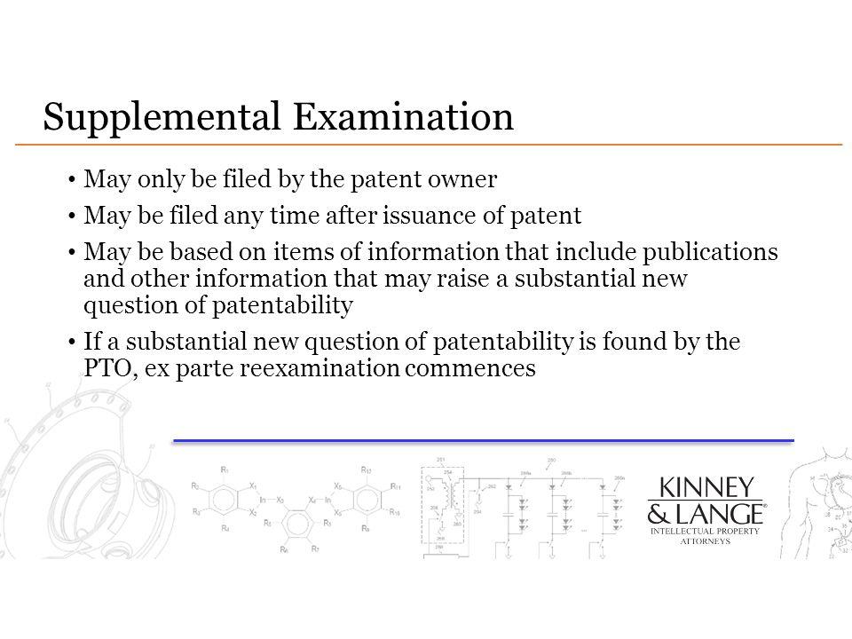Supplemental Examination