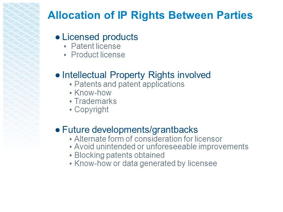 Allocation of IP Rights Between Parties
