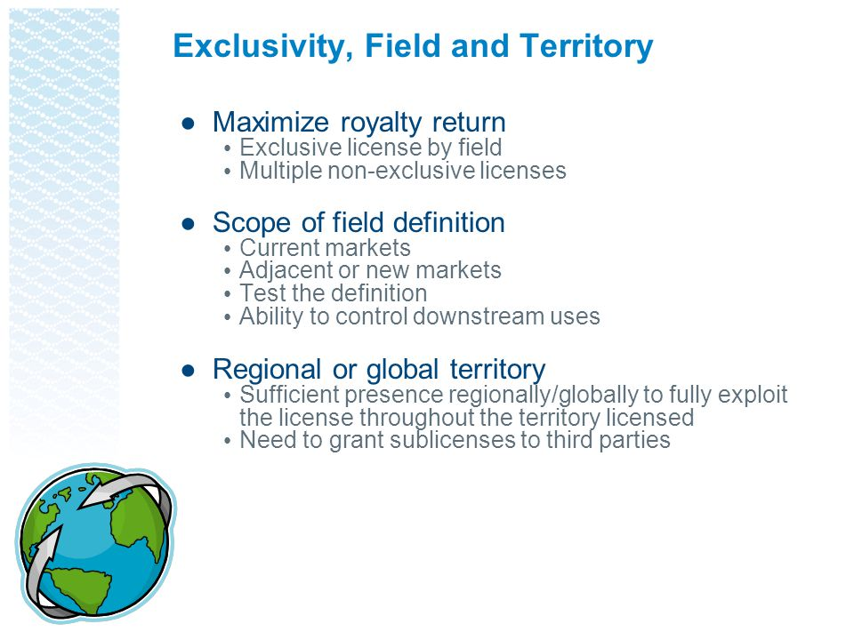 Exclusivity, Field and Territory