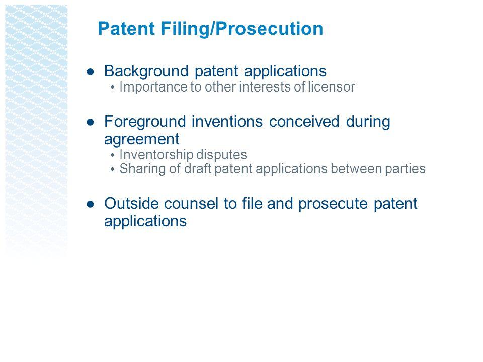 Patent Filing/Prosecution